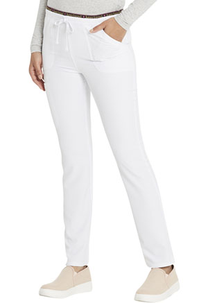 Break on Through Mid Rise Tapered Leg Drawstring Pant (HS185-WHIH) (HS185-WHIH)