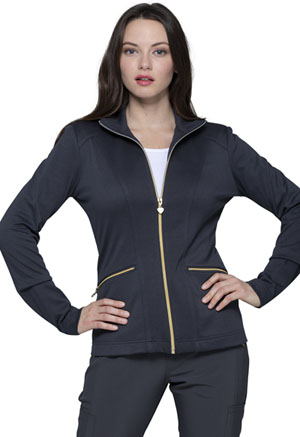 Heartsoul Zip Front Jacket Pewter (HS325-PWPS)