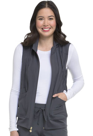 Break on Through Zip Front Vest (HS500-PEWH) (HS500-PEWH)