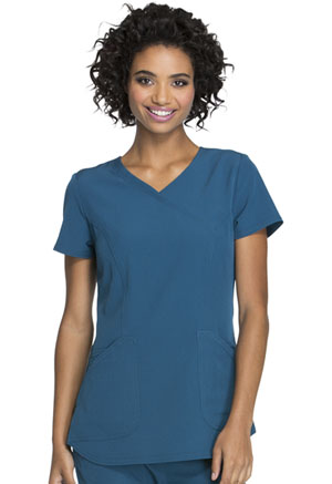HeartSoul Mock Wrap Top Caribbean Blue (HS619-CABH)