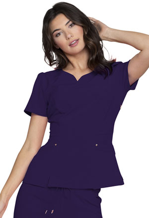 Heartsoul V-Neck Top Eggplant (HS670-EGG)