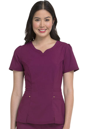 HeartSoul V-Neck Top Wine (HS670-WNPS)