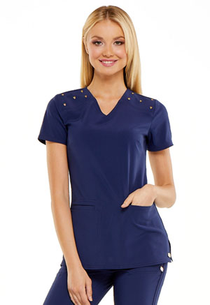 HeartSoul V-Neck Top Navy (HS675-NYPS)