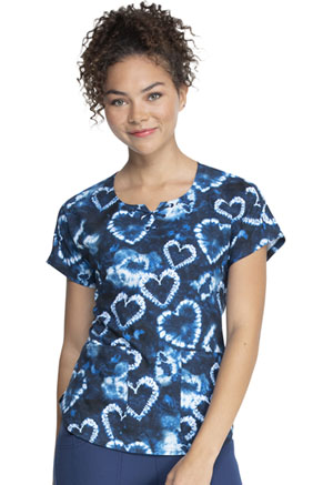 HeartSoul Prints Round Neck Top (HS685-TYLV) (HS685-TYLV)