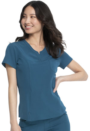 HeartSoul Break on Through V-Neck Top in Caribbean Blue (HS710-CABH)