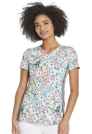Heartsoul V-Neck Top Blooms So Pretty (HS720-BMSP)