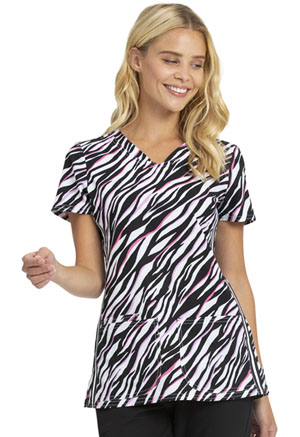 Heartsoul V-Neck Top Pop To It Zebra (HS720-PPZE)