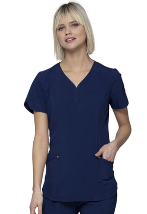 HeartSoul V-Neck Top Navy (HS725-NYPS)