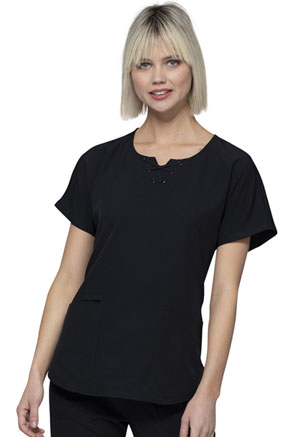 HeartSoul Round Neck Top Black (HS745-BCKH)
