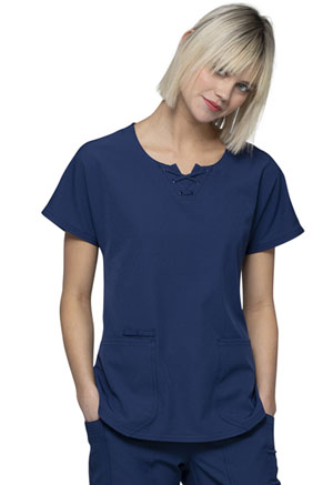 HeartSoul Round Neck Top Navy (HS745-NAYH)