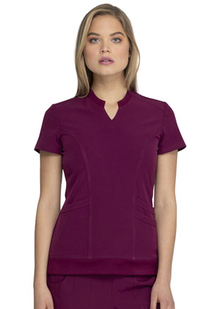 Heartsoul Split Neck Top Wine (HS765-WINH)