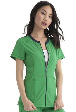 Heartsoul Zip Front Top Kelly Green (HS780-KEGR)