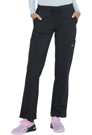 Sanibel Midrise Tapered Leg Drawstring Yoga Pant Black (PL130-BKRS)