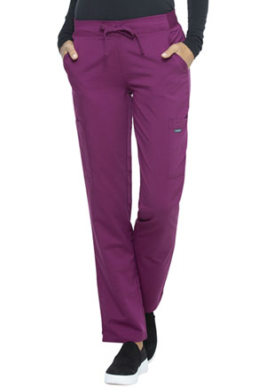Sanibel Midrise Tapered Leg Drawstring Yoga Pant Wine (PL130-WIRS)