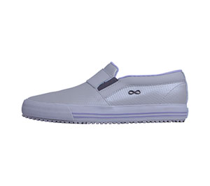 Infinity Footwear RUSH Textured Light Grey with Lilac (RUSH-LGBL)