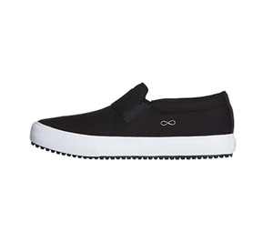 Infinity Footwear RUSH Black Canvas with White (RUSH-TBLW)