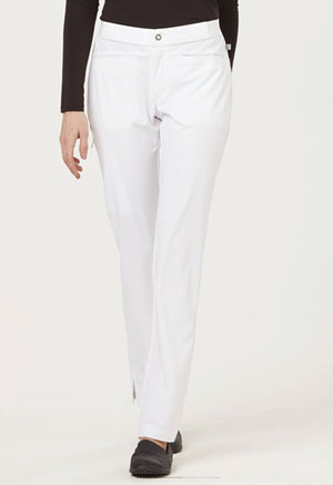 "Sapphire Sapphire Women's ""Roma"" Low Rise Zip Fly Slim Pant White"
