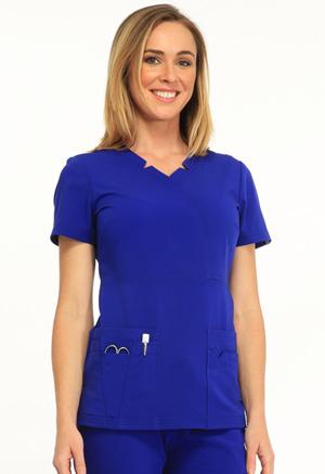 Sapphire Madison Mock Wrap Top Sapphire Blue (SA600A-BUES)