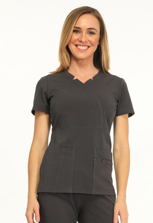 Madison Mock Wrap Top (SA600A-PWTS)
