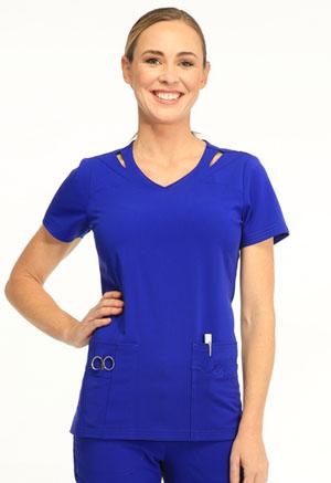 Sapphire Paris V-Neck Top Sapphire Blue (SA601A-BUES)