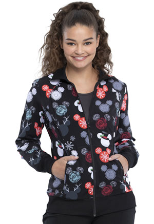 Tooniforms Zip Front Warm-up Jacket That's Snow Mickey (TF301-MKTS)