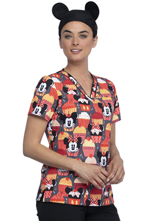 Licensed Prints Scrubs Hat With Mickey Ears (TF508L-MKTY) (TF508L-MKTY)