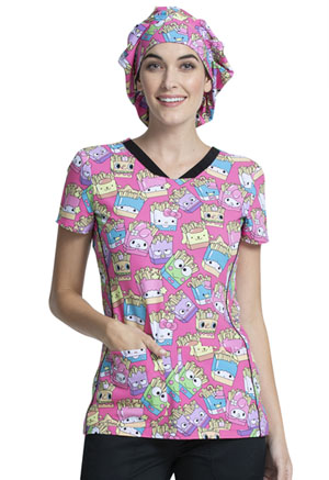 Tooniforms Bouffant Scrubs Hat Supercute Snack Pack (TF599-HSSP)