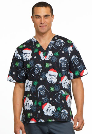 Tooniforms Unisex V-Neck Top Merry Sithmas (TF606-SRMS)