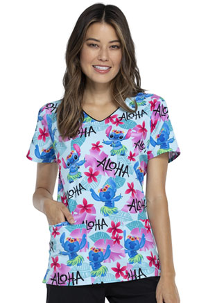 Tooniforms V-Neck Top Aloha Stitch (TF614-LHAS)
