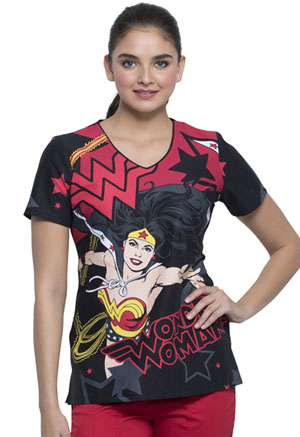 Tooniforms V-Neck Top Wonder Woman� Power (TF626-DMWP)
