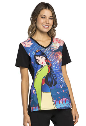 Tooniforms Licensed Prints Women's V-Neck Top Mulan