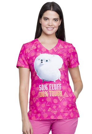 Tooniforms V-Neck Top 50% Fluff (TF629-PTFF)