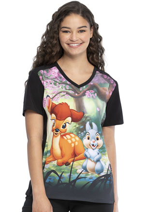 Tooniforms V-Neck Top Forest Prince (TF637-BAFP)