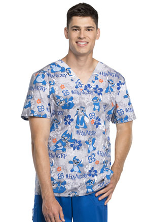 Tooniforms Men's V-Neck Top Hangry (TF663-LHAG)