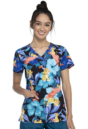 Tooniforms V-Neck Top Hakuna Hibiscus (TF666-LKHH)
