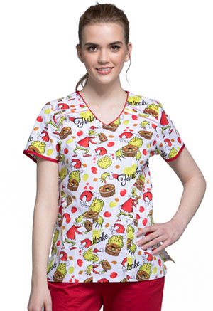 Tooniforms V-Neck Top Grinch-cake (TF686-SECK)