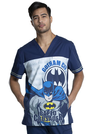 Tooniforms Men's V-Neck Top Gotham City� (TF702-DMGC)