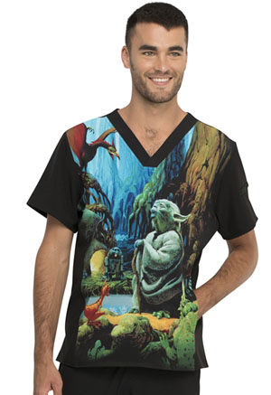 Tooniforms Men's V-Neck Top Jedi Master I Am (TF708-SRJM)