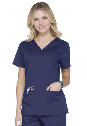 ScrubStar Canada V-neck Top Electric Blue (WA806-EBW)
