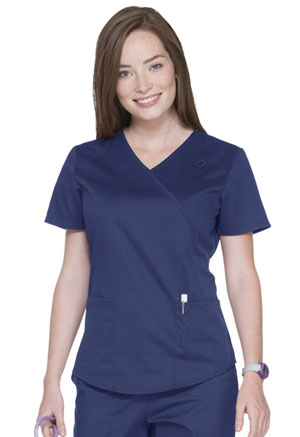 ScrubStar Canada Mock Wrap Top Electric Blue (WA807-EBW)