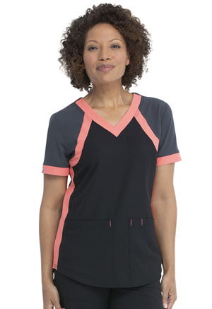 ScrubStar Canada Women's V-neck Top Black (WC618-BLK)