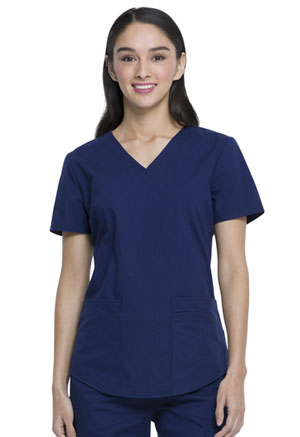 ScrubStar Canada Women's V-neck Top Indigo (WC820-IND)