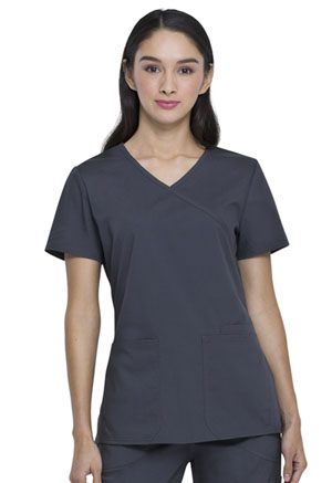 ScrubStar Canada Women's Mock-wrap Top Pewter (WC822-PWT)