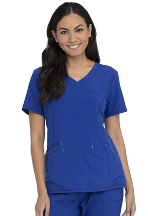 ScrubStar Canada Women's Mock Wrap Top Electric Blue (WC824-EBW)
