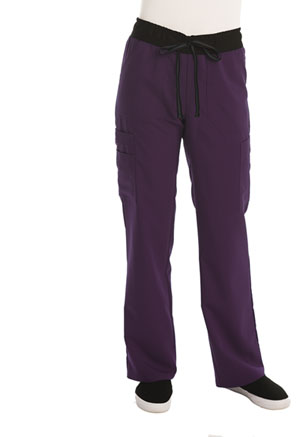 ScrubStar WM.COM Women's Flex Pant Eggplant (WD003-EGG)