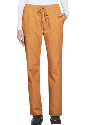 ScrubStar Women's Brushed Poplin Drawstring Pant Fresh Orange (WD007-FOWM)