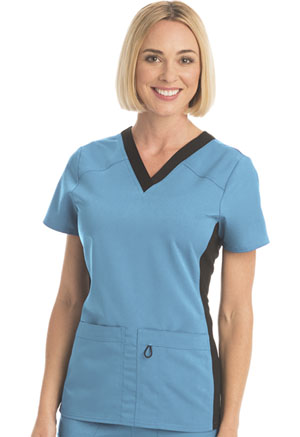 ScrubStar Women's Premium Flex Stretch V-neck Top Turquoise (WD803-RTWM)