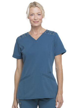 ScrubStar Women's V-neck Top Caribbean (WD817-CRBZ)