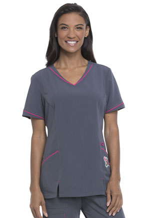 ScrubStar Women's V-Neck Top Pewter (WD822-PWT)
