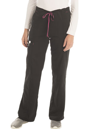 ScrubStar Women's Stretch Rayon Drawstring Pant Black (WM007-CRWM)
